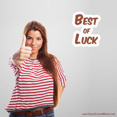 Best of luck for job interview