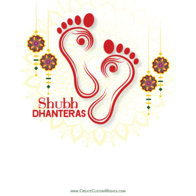 Create Shubh Dhanteras Wishes with Company Logo