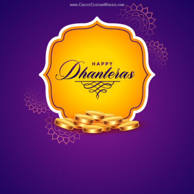 Customized Happy Dhanteras Wishes Image