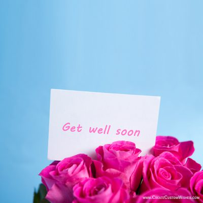 Get well soon card with flower