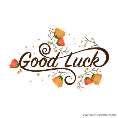 Good luck for students exam