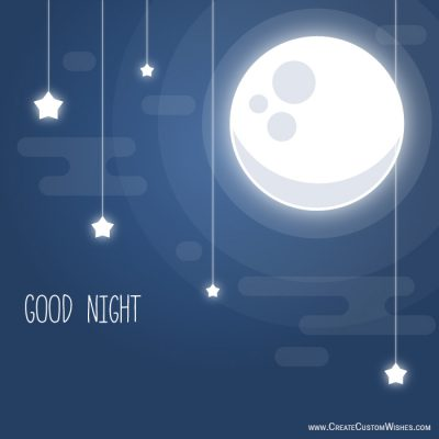 Lovely message with good night star