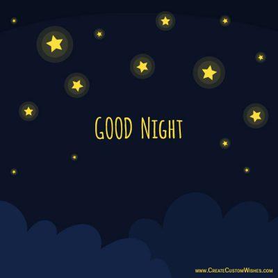 Create good night ecard with logo