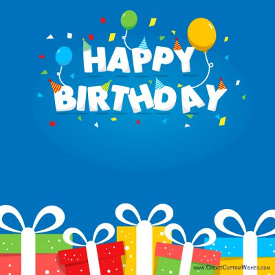 Personalized birthday card online