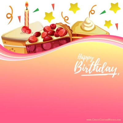 Create birthday card with logo & text