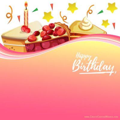 Create birthday card with logo & text