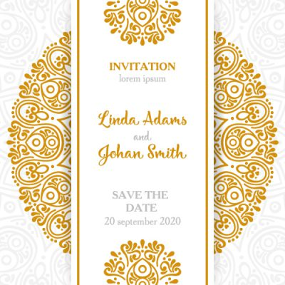Write your text on invitation card