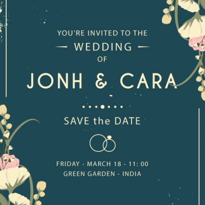 Create save the date wedding card