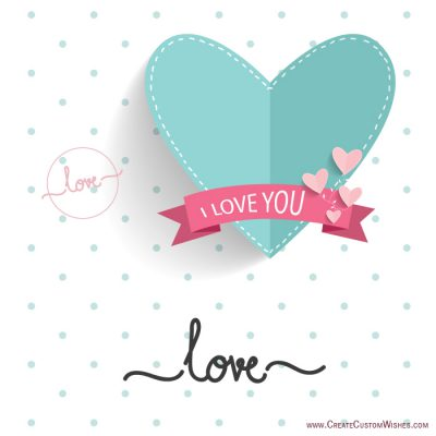 Customized i love you image