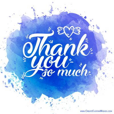 Write name on thank you so much image