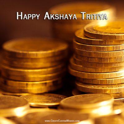 Write name on Akshaya Tritiya Image