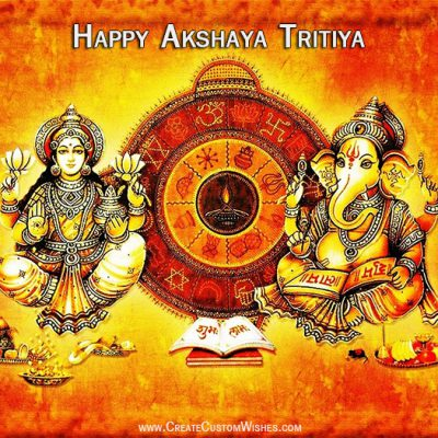Make a happy akshaya tritiya card