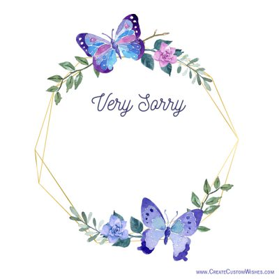 Very sorry with flower