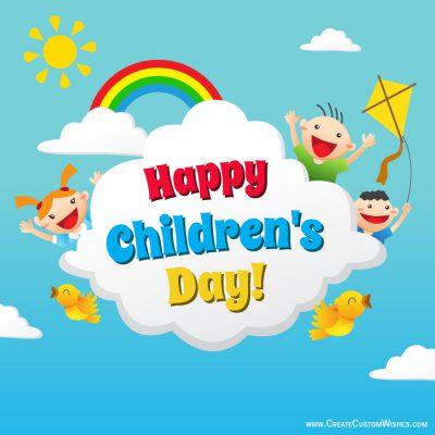 Write your name on Childrens day image