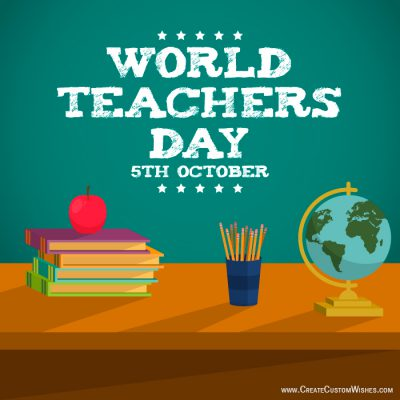 Write your name on Teacher's Day image