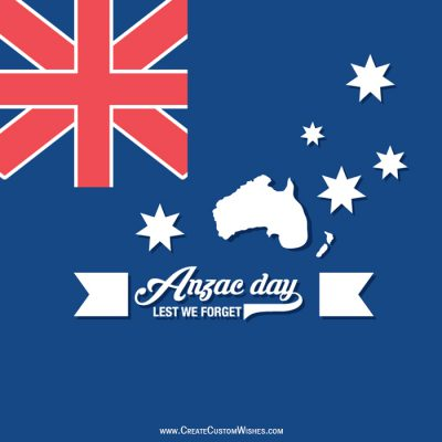 Write your message on Anzac Day Card