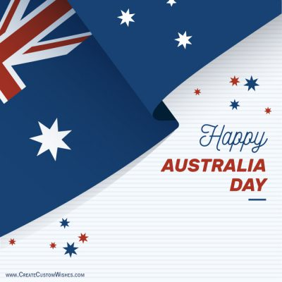 Write your name on Australia Day card