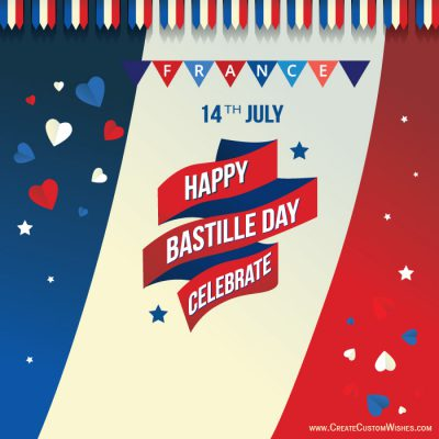 Personalized Happy Bastille Day Greetings Card