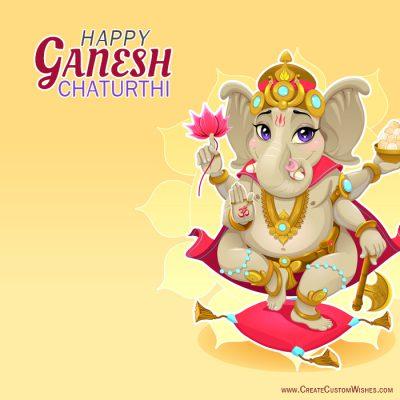 Customized ganesh chaturthi wishes card