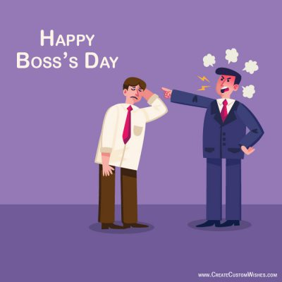 Customized happy bosss day wishes card create custom wishes write your name on happy bosss day card m4hsunfo