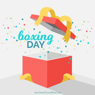 Personalized Boxing Day Wishes card