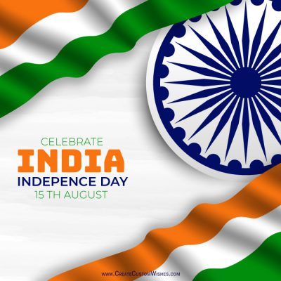 Write your name on Independence Day image