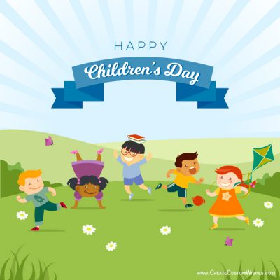 Personalized Happy Children's Day Cards
