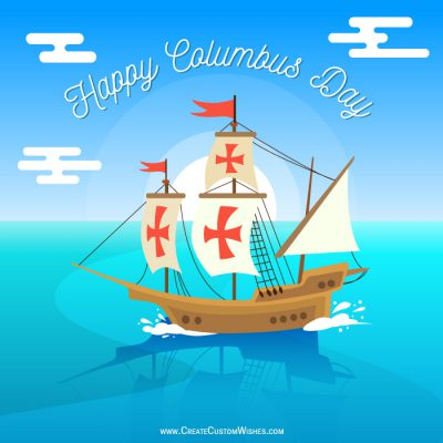 Make your own Columbus Day Card
