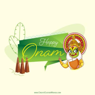 Customized Happy Onam Wishes Card