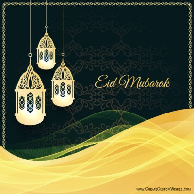 Make your own Eid Mubarak Greetings card