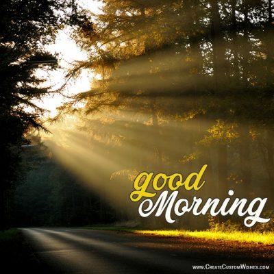 Customized Good Morning Greetings Card