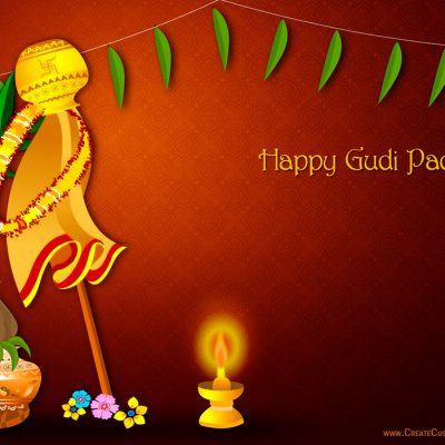 Customized Gudi Padwa Wishes Card