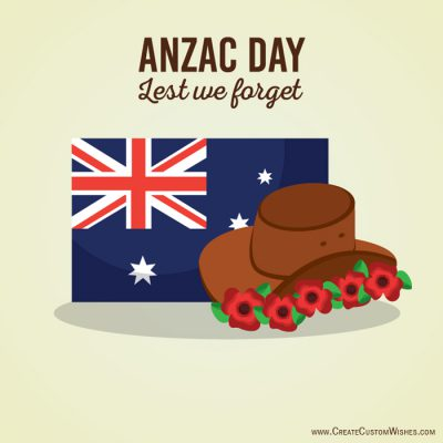 Personalized Anzac Day Wishes Cards
