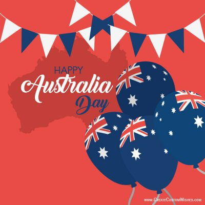 Customized Happy Australia Day Wishes Card