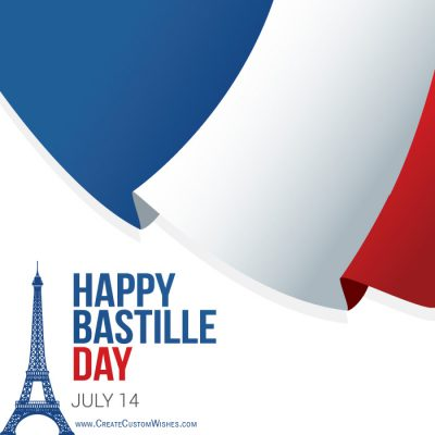 Customized Happy Bastille Day Wishes Card