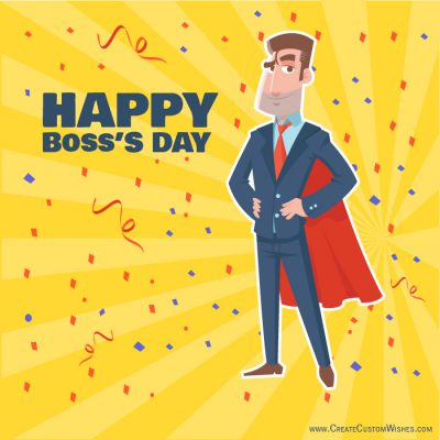Personalized Happy Boss's Day Cards
