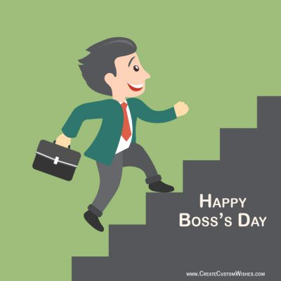 Customized Happy Boss's Day Wishes Card