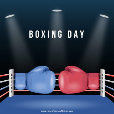 Write a name on Boxing Day image