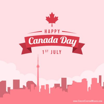 Make your own Happy Canada Day Card Free