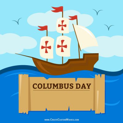 Personalized Columbus Day Greetings Cards
