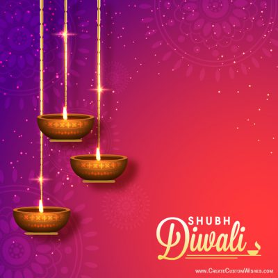Personalized shubh diwali wishes card