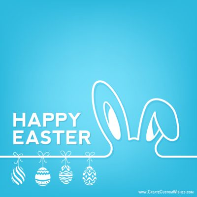 Write a name on Happy Easter card