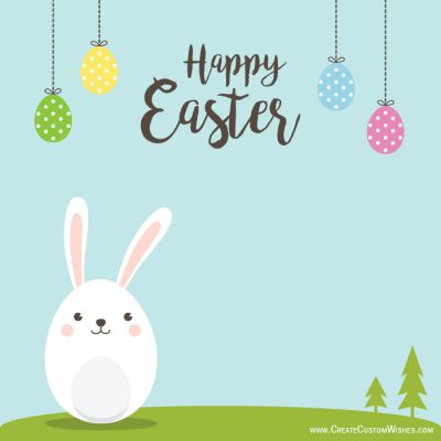 Customized Happy Easter Day Wishes Card