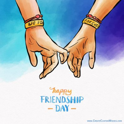 Create unique style Friendship Day Card