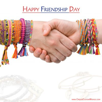 Write your friends name on Friendship Day Image