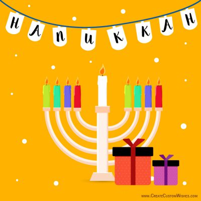 Customize Hanukkah Card With Logo