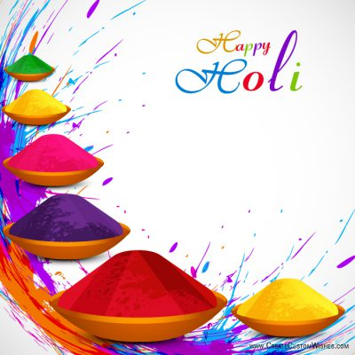 Set your company logo on holi wishes card