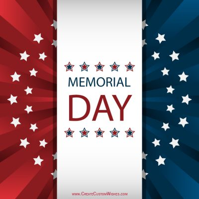 Customized memorial day greetings card create custom wishes personalized memorial day greetings cards m4hsunfo