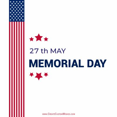 Write your name on Memorial Day Image