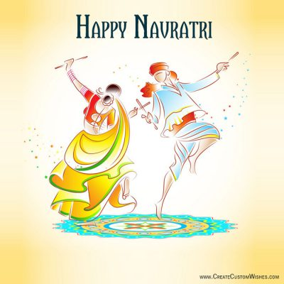 Customized Navratri Wishes Cards